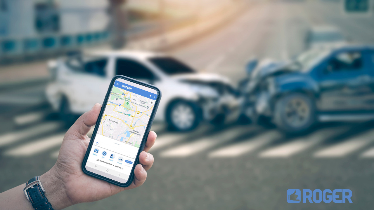 use ROGER app to help in a car accident