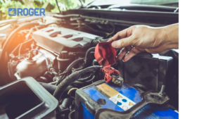 Image showing a car battery being replace